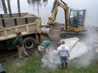 Lake Retaining Wall Project