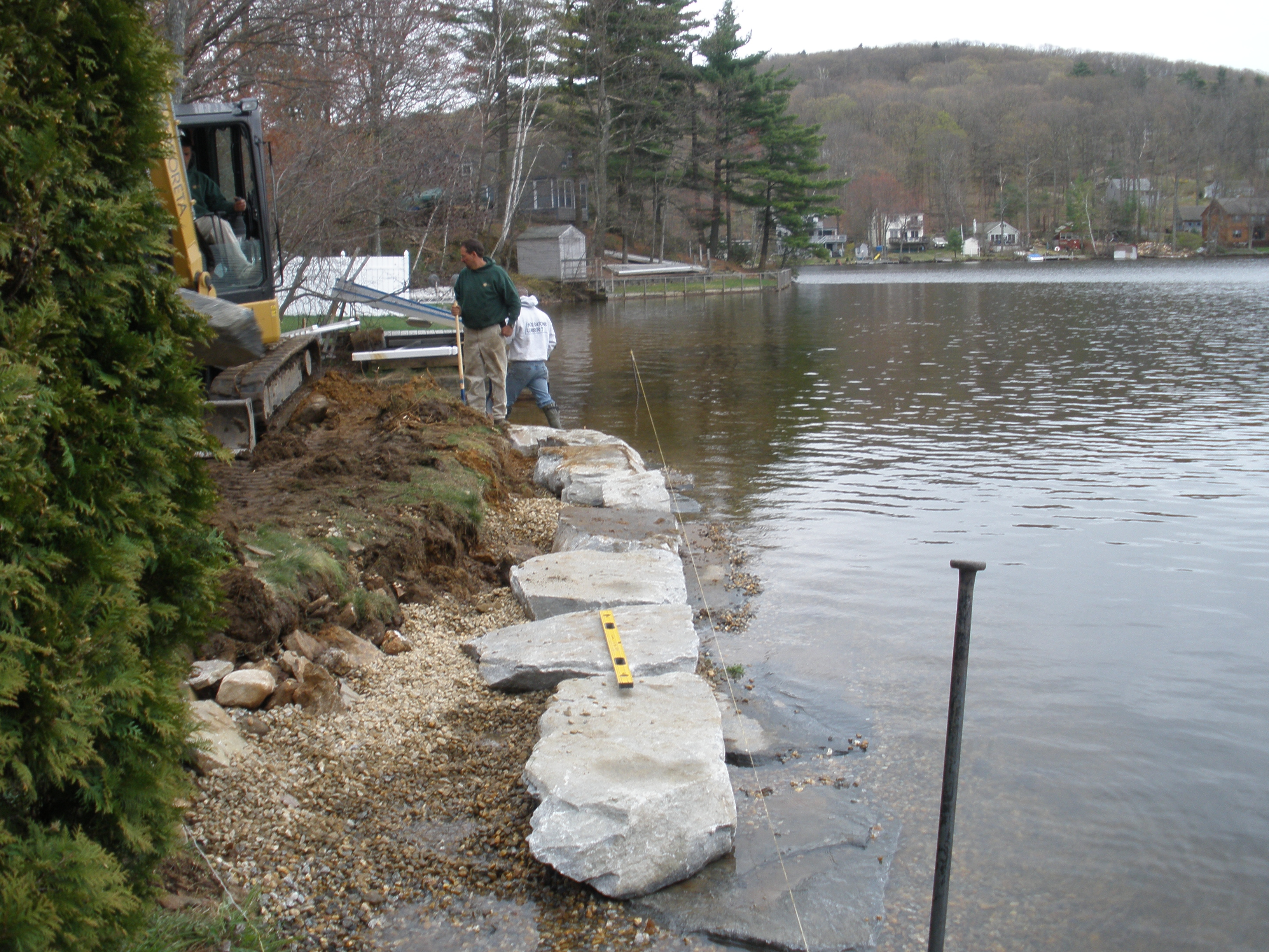 Lake Retaining Wall Project Arboreta Landscapes